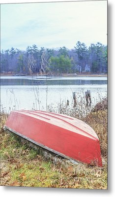 Red Dingy Metal Print