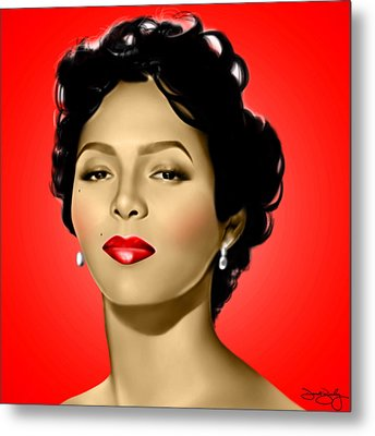 Red Dorothy Metal Print by Davonte Bailey