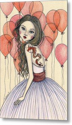 Red Dragon Metal Print by Snezana Kragulj