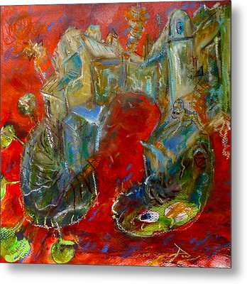 Red Dream Metal Print by Original Art For your home