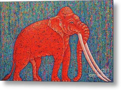 Red Elephant  Metal Print by Opas Chotiphantawanon