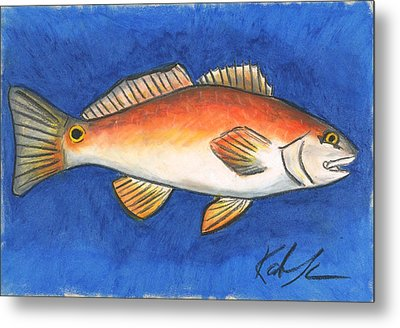 Red Fish Metal Print