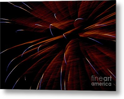 Red Flare Metal Print by Jeannie Burleson