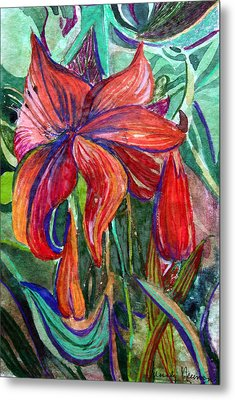 Red Flower Metal Print by Mindy Newman