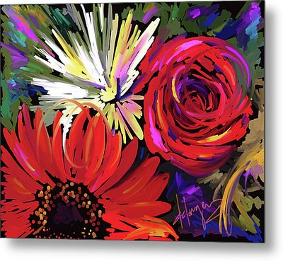 Red Flowers Metal Print by DC Langer