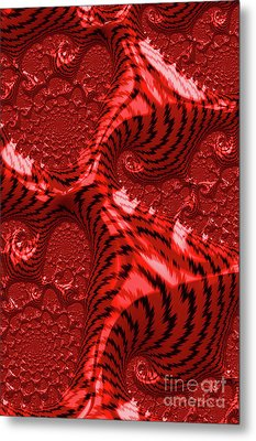 Red For Danger Metal Print by Steve Purnell