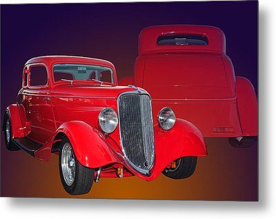 Red Ford Metal Print by Jim  Hatch