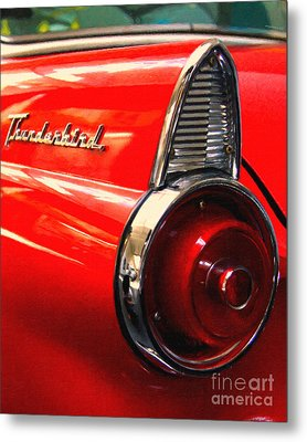 Red Ford Thunderbird . Automotive Art Series Metal Print by Wingsdomain Art and Photography
