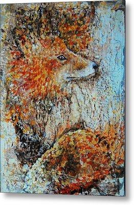 Red Fox Metal Print by Jean Cormier