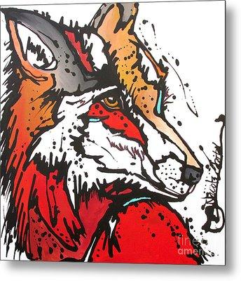Red Fox Metal Print by Nicole Gaitan