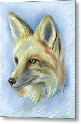 Red Fox Portrait Metal Print by MM Anderson