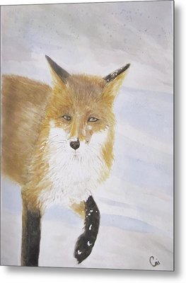 Red Fox Walk Metal Print