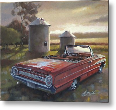 Red Galaxie Metal Print by Todd Baxter