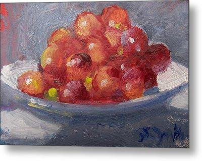Red Grapes Metal Print by Susan Jenkins