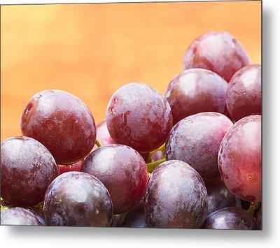 Red Grapes Metal Print by Wim Lanclus