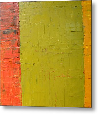 Red Green Yellow Metal Print by Michelle Calkins