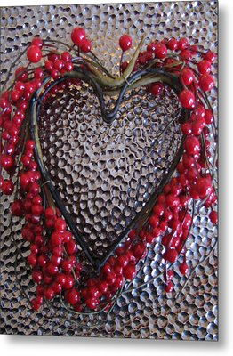 Red Heart  Metal Print by Lindie Racz