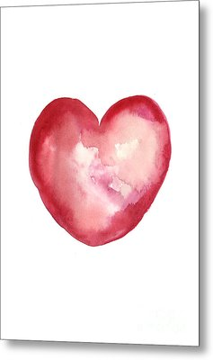 Red Heart Valentine's Day Gift Metal Print by Joanna Szmerdt