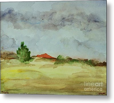 Metal Print featuring the painting Red Hill Landscape by Vonda Lawson-Rosa