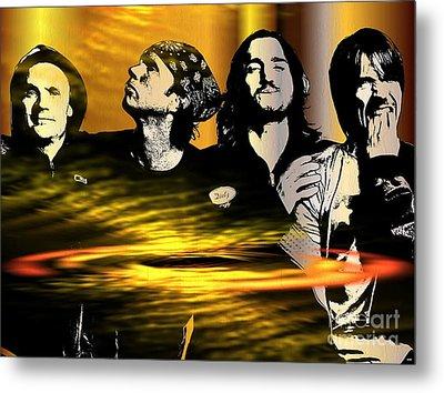Red Hot Chili Peppers Metal Print by Daniel Janda