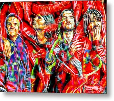Red Hot Chili Peppers In Color II  Metal Print
