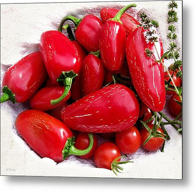 Metal Print featuring the photograph Red Hot Jalapeno Peppers by Shawna Rowe
