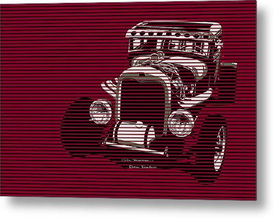 Red Hot Rat Metal Print by MOTORVATE STUDIO Colin Tresadern