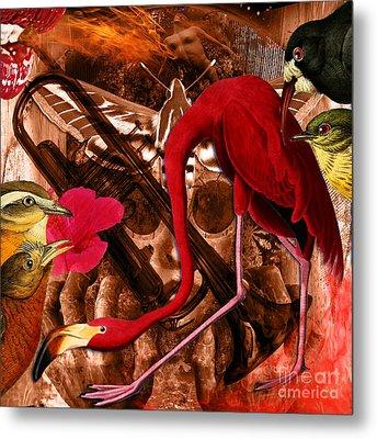 Red Hot Soul Music Metal Print