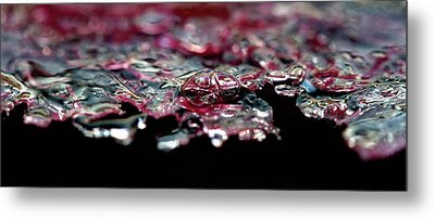Metal Print featuring the photograph Red Ice by Rico Besserdich