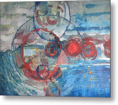 Metal Print featuring the painting Red Infinity by John Fish