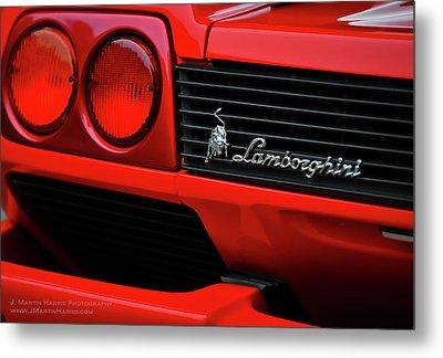 Red Lamborghini Metal Print