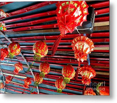 Metal Print featuring the photograph Red Lanterns 3 by Randall Weidner