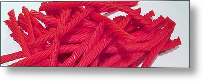 Red Licorice  Metal Print by Martin Cline