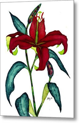 Red Lily Metal Print by Stephanie  Jolley
