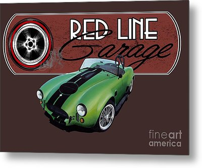 Red Line Garage Metal Print