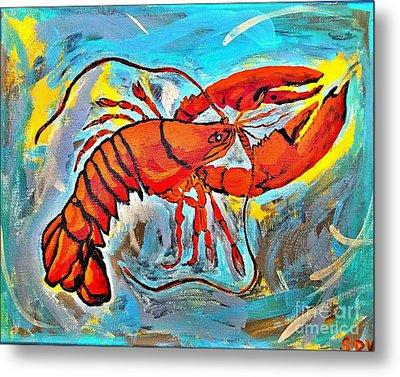 Red Lobster Abstract  Metal Print by Scott D Van Osdol