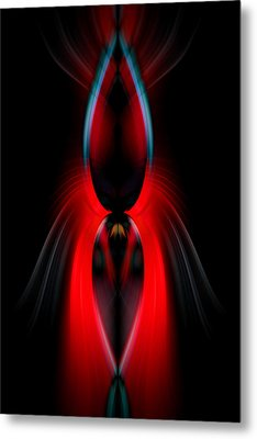 Red Lure Metal Print by Cherie Duran