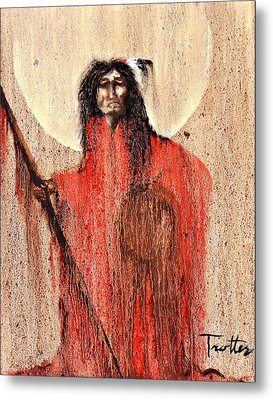Red Man Metal Print by Patrick Trotter