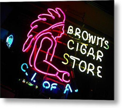 Red Man's Smoke Shop Metal Print by Elizabeth Hoskinson