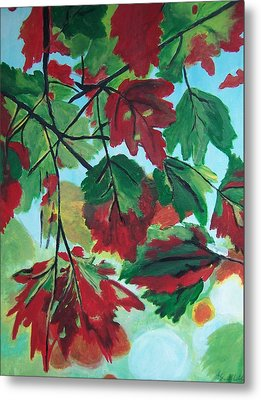 Red Maple Metal Print