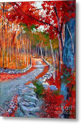 Red Maple Road Plein Aire Metal Print