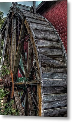 Red Mill Wheel 2007 Metal Print by Trey Foerster