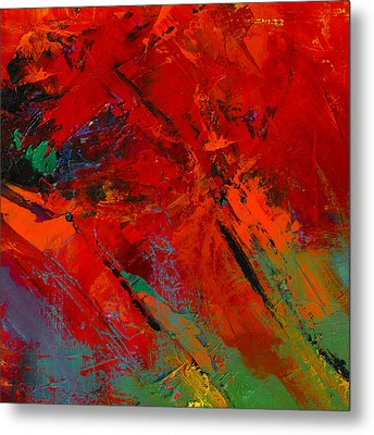 Metal Print featuring the painting Red Mood by Elise Palmigiani