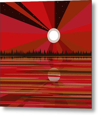 Red Moonshine Metal Print