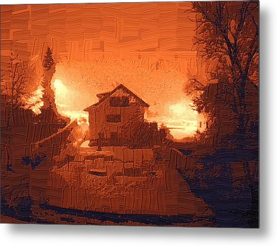 Red Morn Metal Print by Chuck Shafer