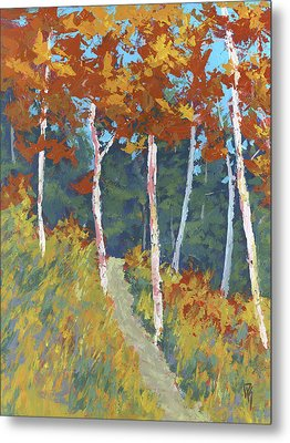 Red Mountain Aspens Metal Print by David King