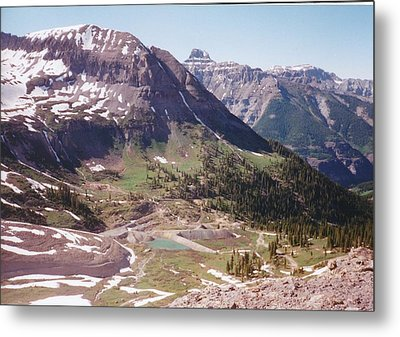 Red Mountain Metal Print by Dale Jackson