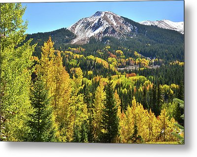 Metal Print featuring the photograph Red Mountain Fall Color by Ray Mathis