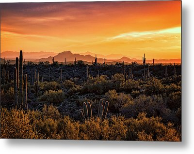 Metal Print featuring the photograph Red Mountain Sunset Part Two  by Saija Lehtonen