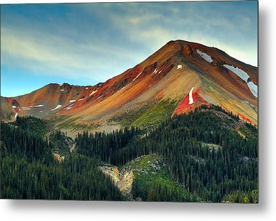 Red Mountain Metal Print by Tim Reaves